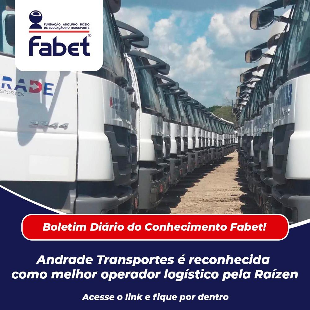 Andrade Transportes é reconhecida como melhor operador logístico pela Raízen