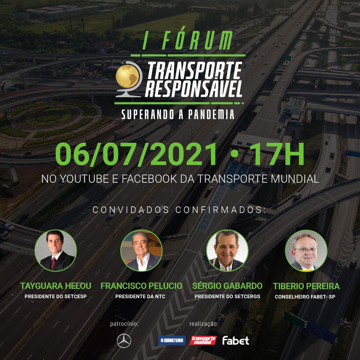 1º Fórum Transporte Responsável é realizado no próximo dia 6 de julho